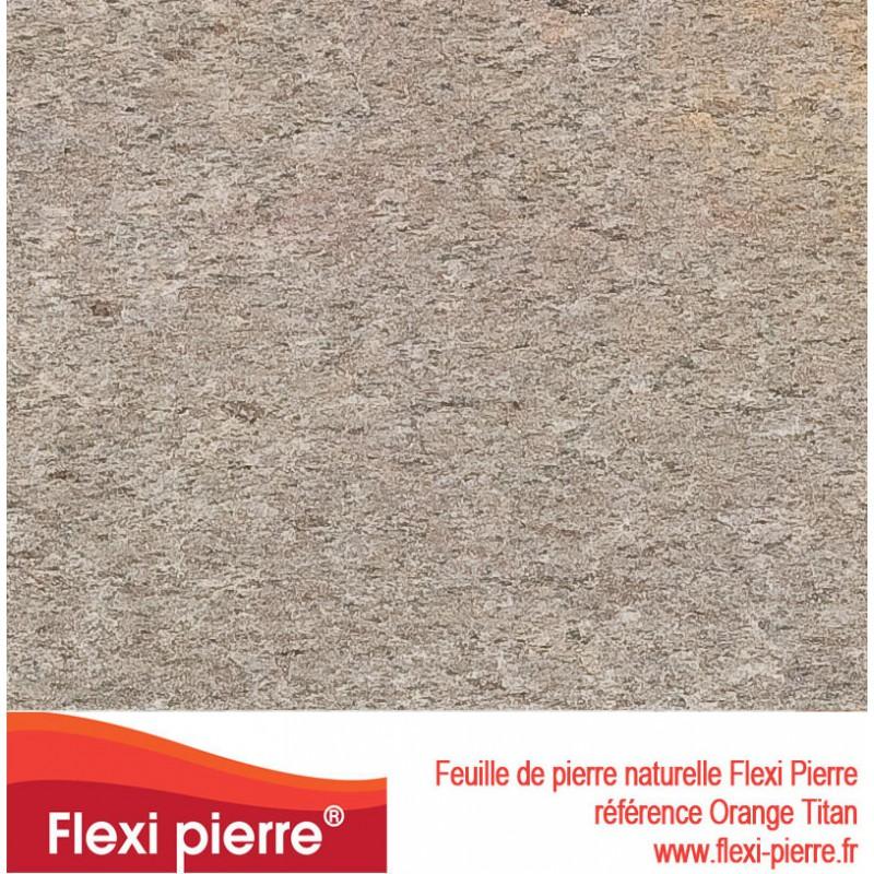 feuille de pierre Flexi Pierre® référence Orange Titan