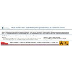 Spécificités, composition et mode d'emploi de l'huile pour ardoise et schistes. 1/4L