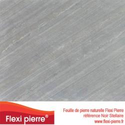 Flexi Pierre Noir Stellaire, feuille de pierre naturelle