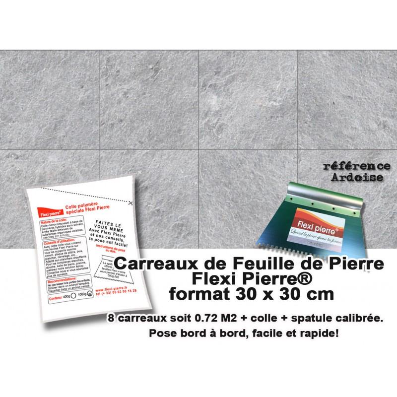Carreaux 30x30 cm Flexi Pierre ardoise + colle + spatule + port offert