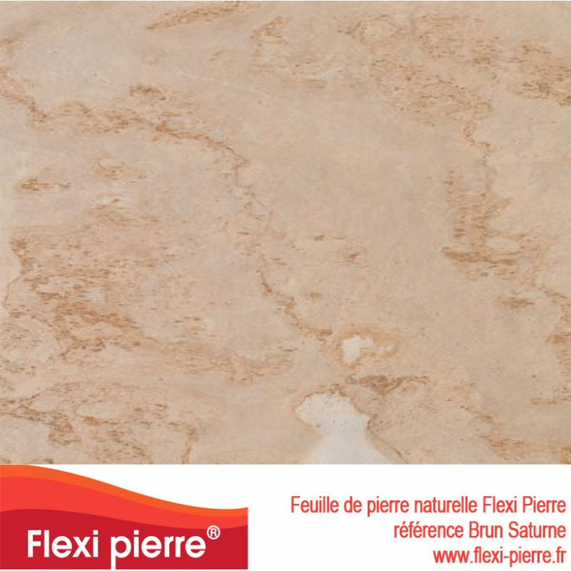 Flexi Pierre® Brun Saturne feuille de pierre schiste brun