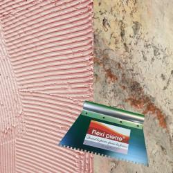 Colle polymère en cartouche pour petites surfaces à poser en Flexi Pierre.