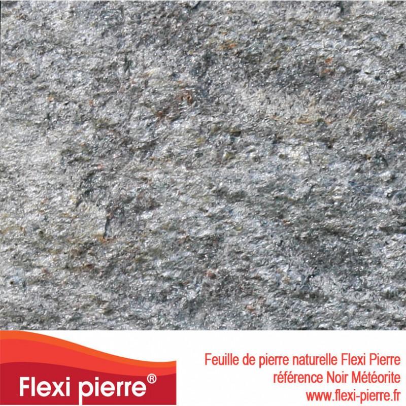 Flexi Pierre Noir Métérore, feuille de pierre naturelle
