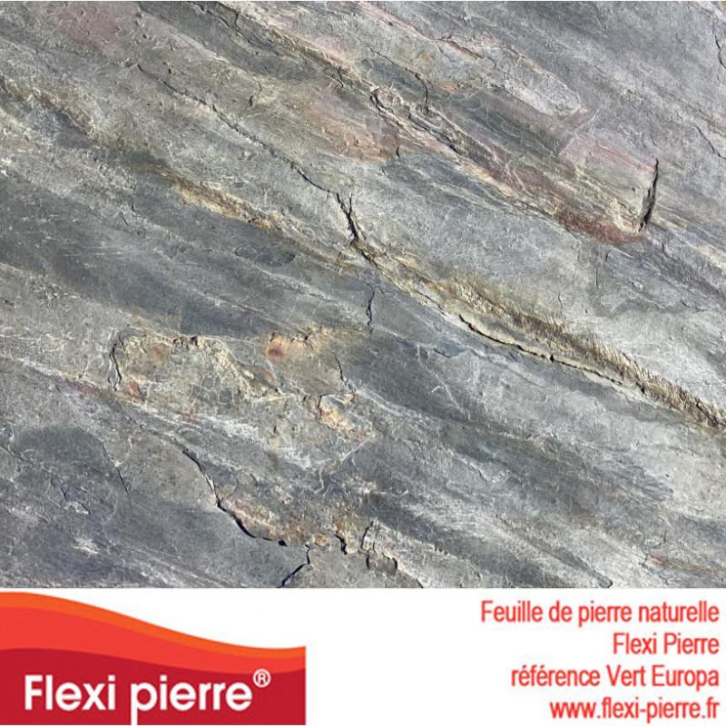 Feuille de pierre Flexi Pierre® référence Vert Europa