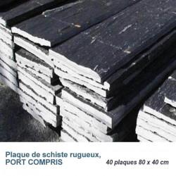 Ardoise brute : Plaque de schiste rugueux 80 x 40 cm x 3-5 cm